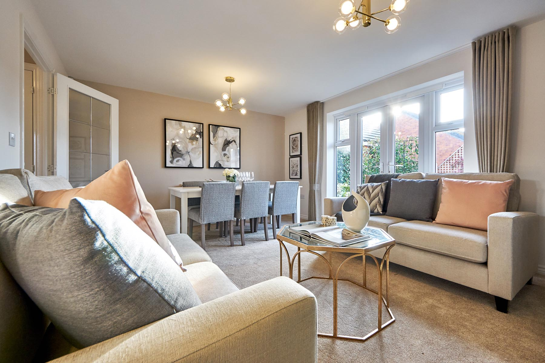 TW Exeter - Buckingham Heights - Flatford example living room 2