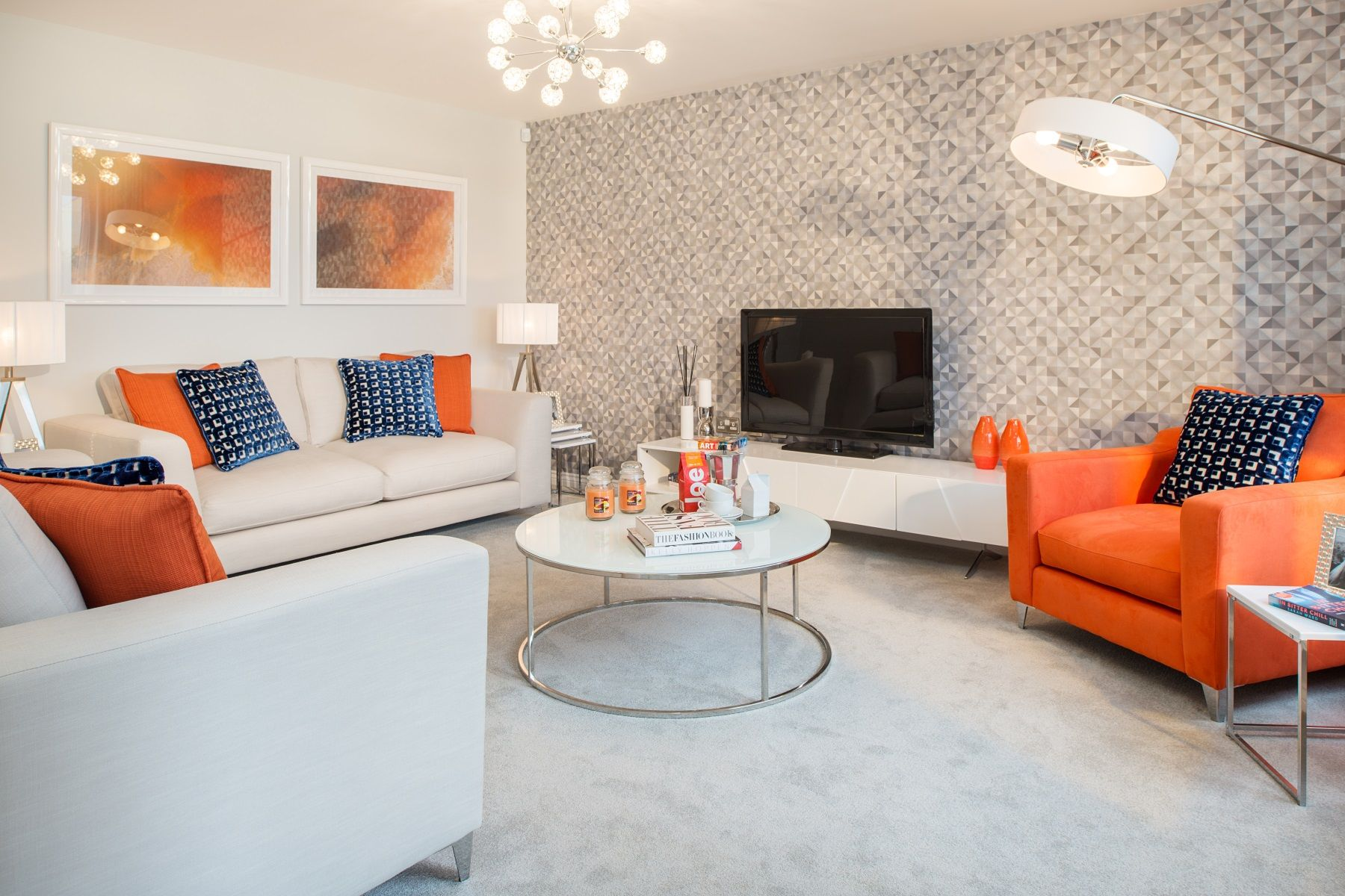 Taylor Wimpey Exeter - Chy An Dowr - Shelford example living room