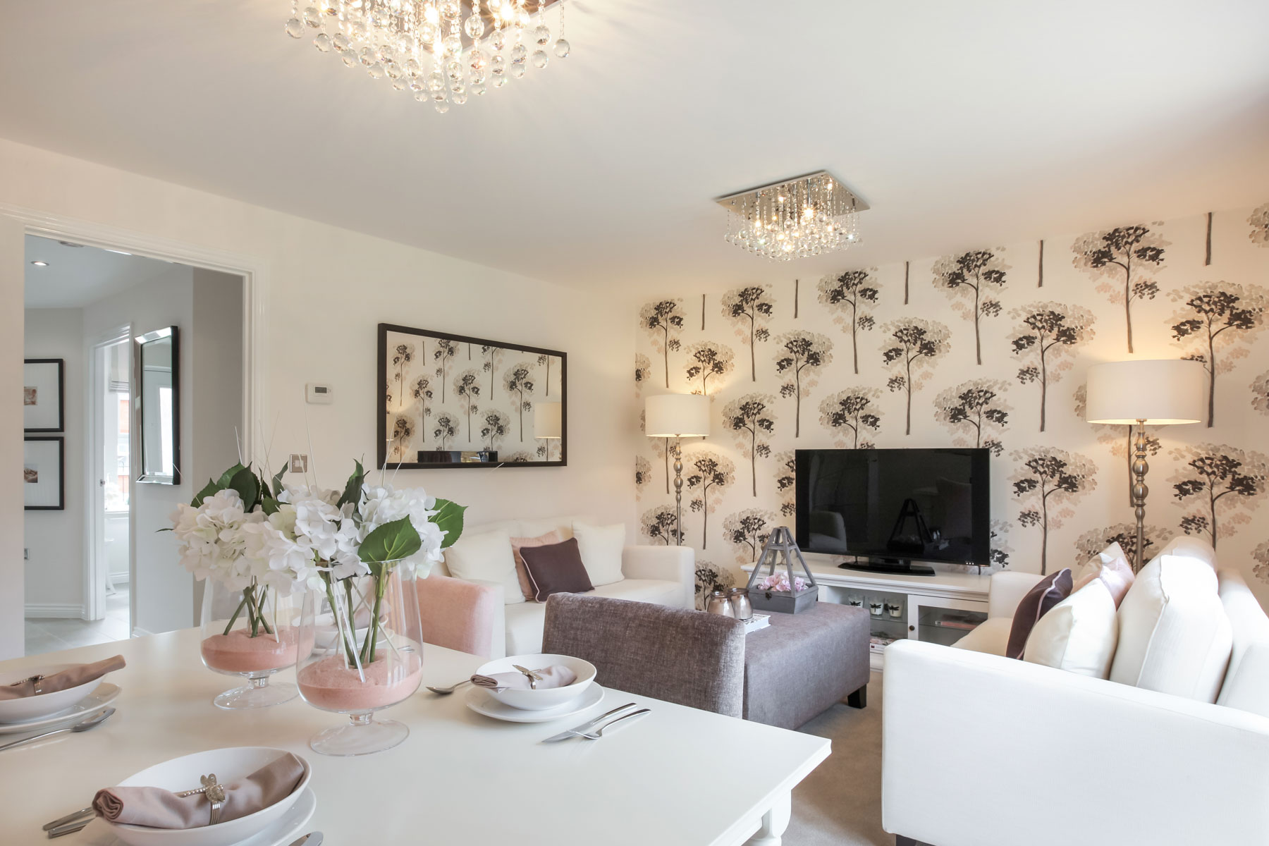 TW Exeter - Copleston Heights - Flatford example living room 2