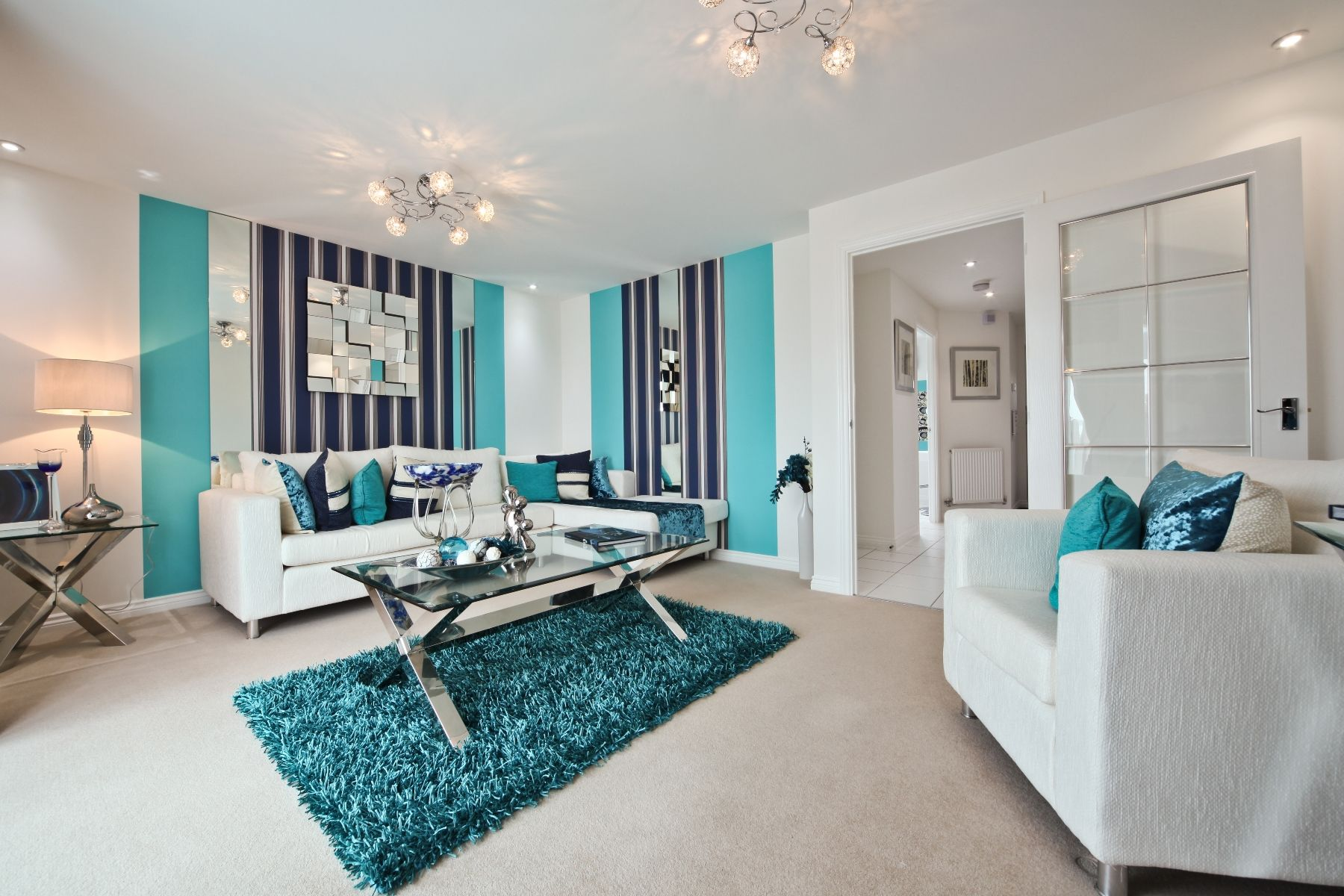 Cornflowers at Cranbrook Flatford example living room