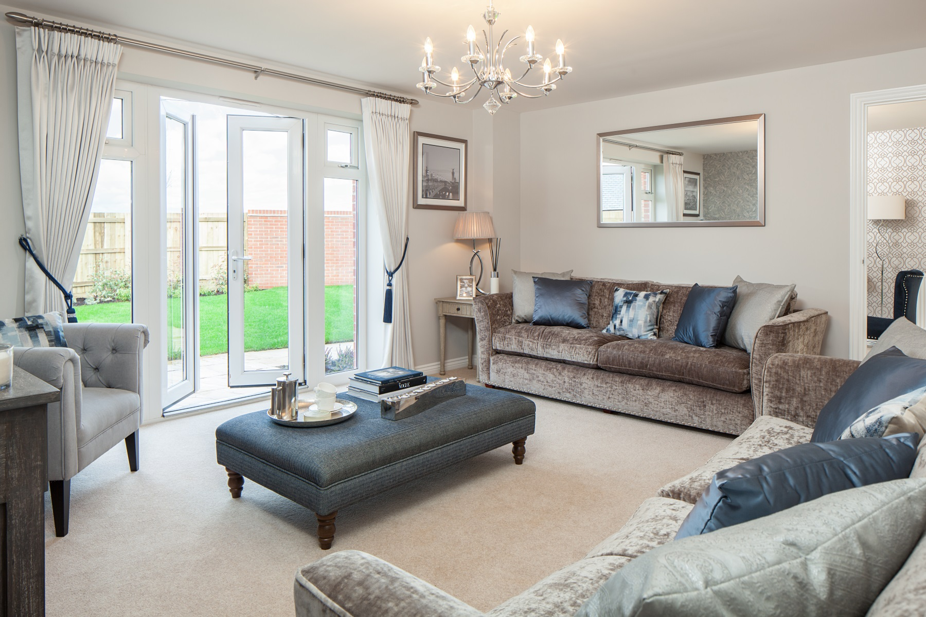 Cornflowers at Cranbrook Thornford example living room