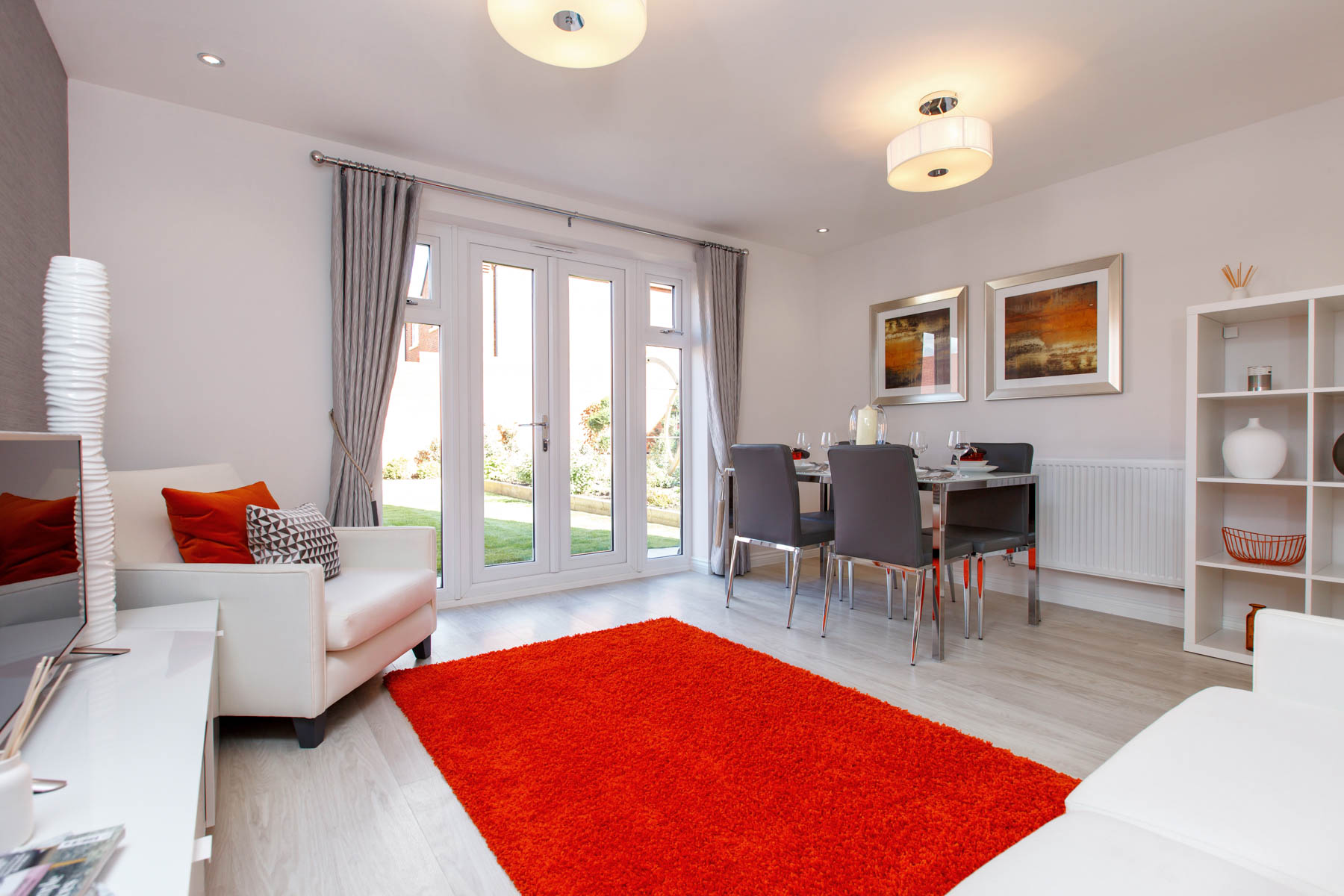 Taylor Wimpey Exeter - Cranbrook - Harton example living room 2