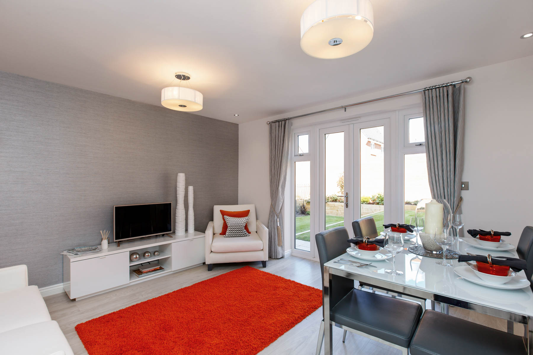 Taylor Wimpey Exeter - Cranbrook - Harton example living room