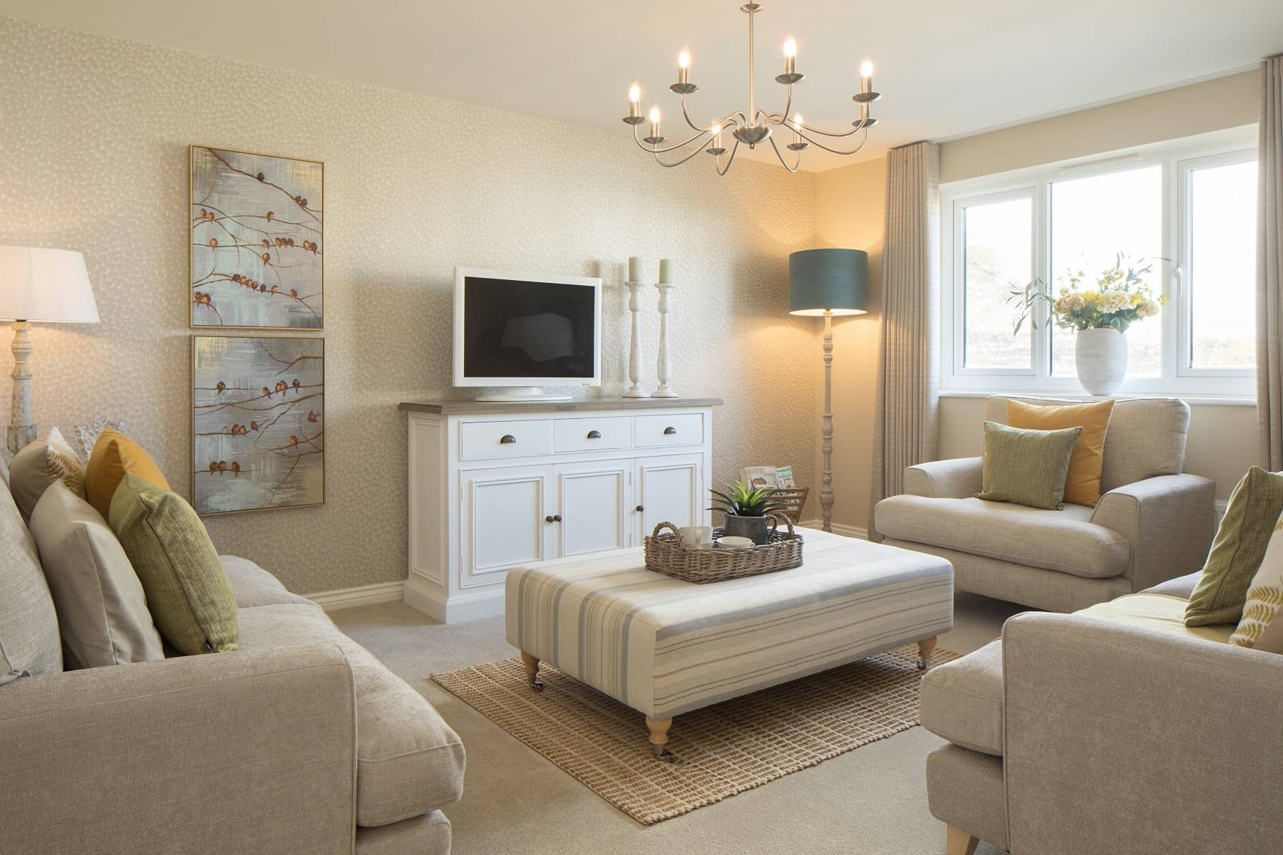 TW Exeter - Cranbrook - Midford example living room