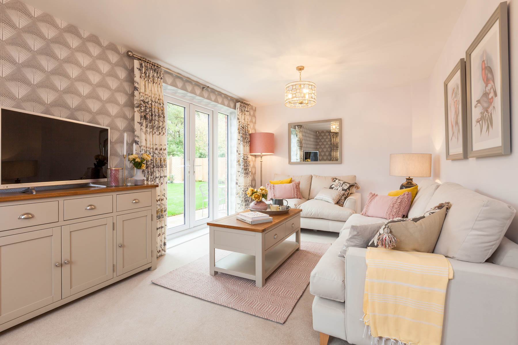 Taylor Wimpey Exeter - Cranbrook - Milton example living room 2