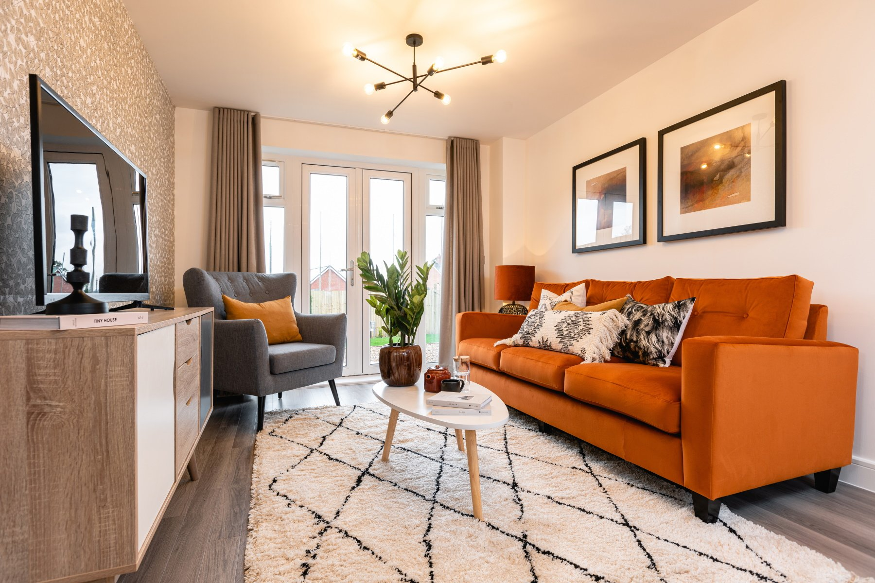 Taylor Wimpey Exeter - Cranbrook - Yewdale example living room