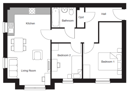 2 bed apartment FF