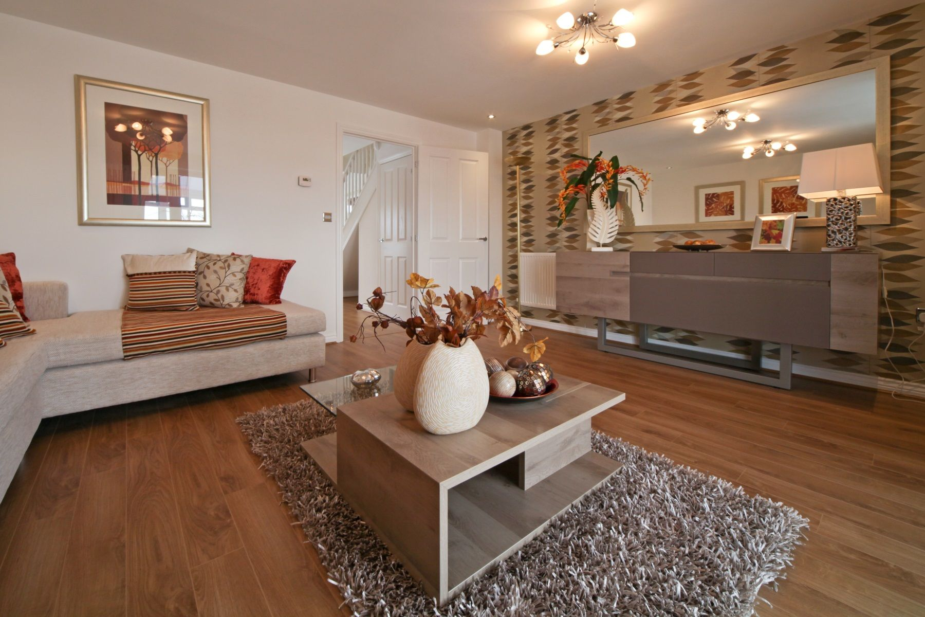 Hele Park Ashton example living room