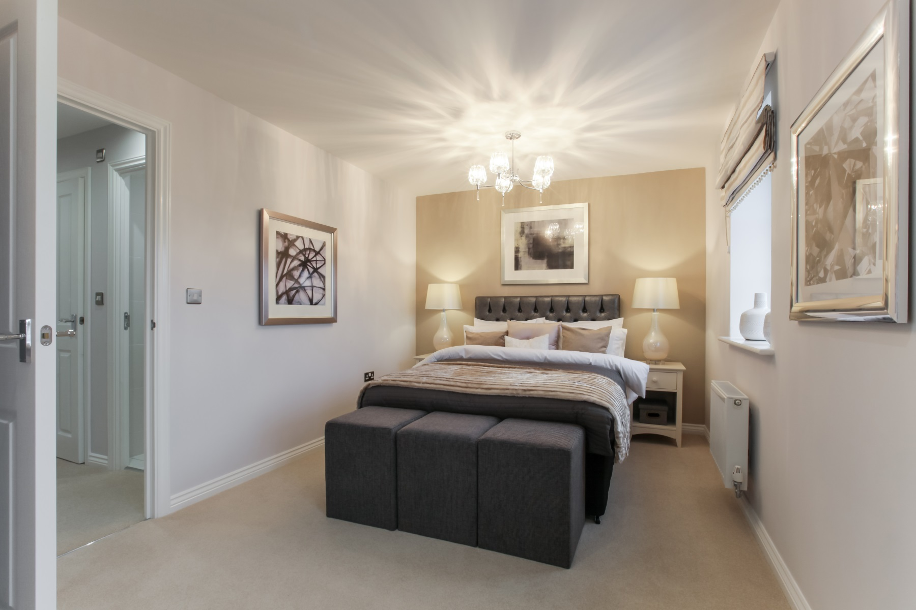 Hele Park Belbury example bedroom
