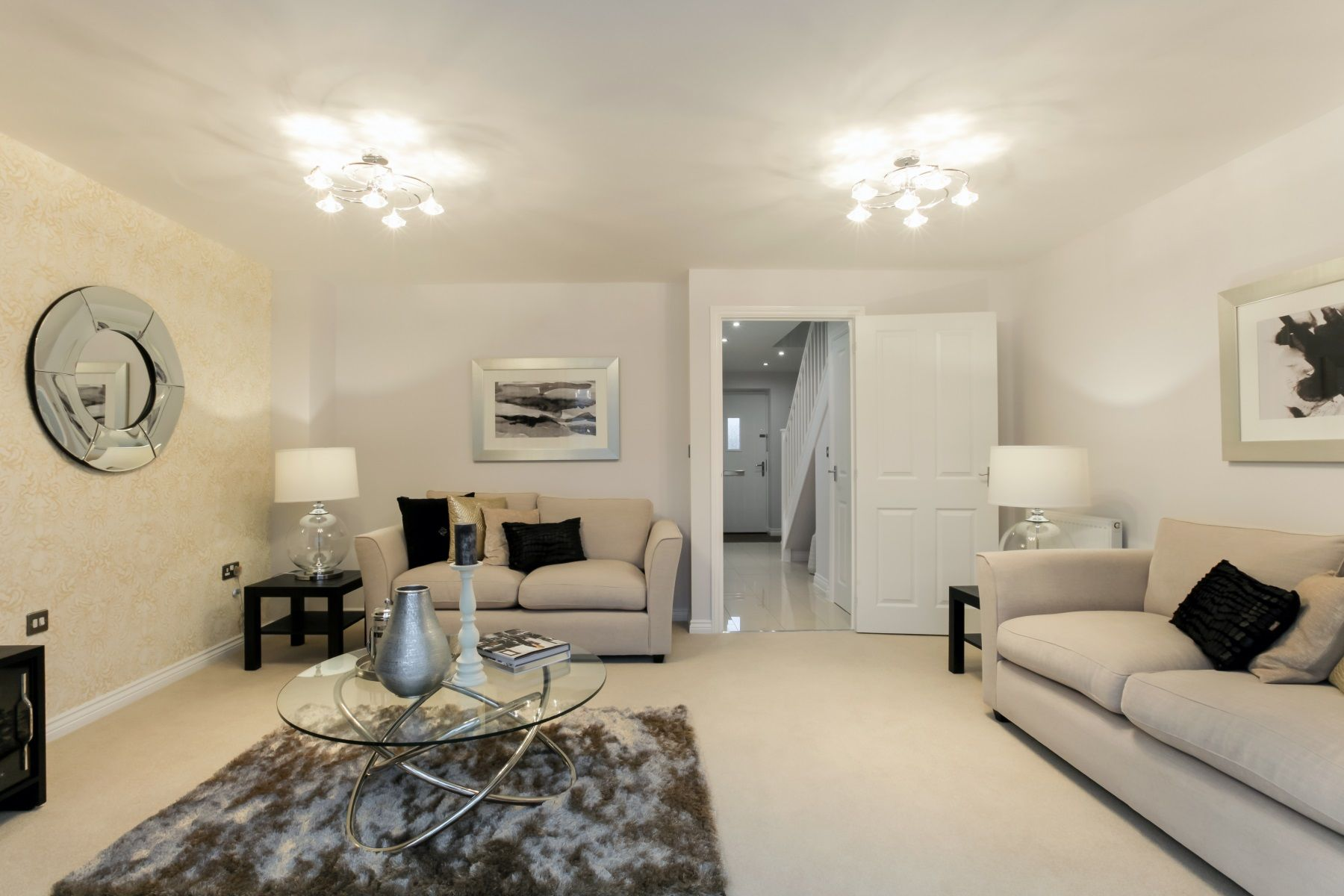 Hele Park Belbury example living room 2