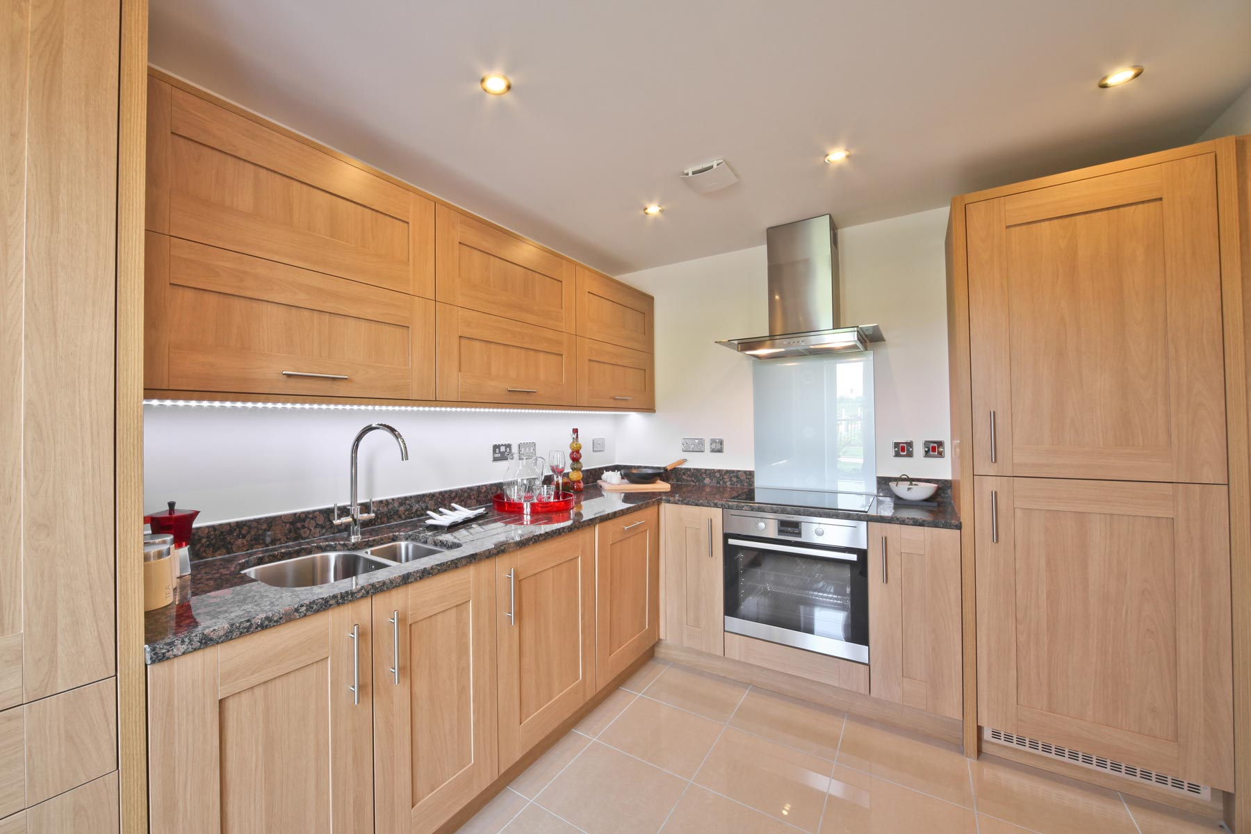 Hele Park Belbury example kitchen