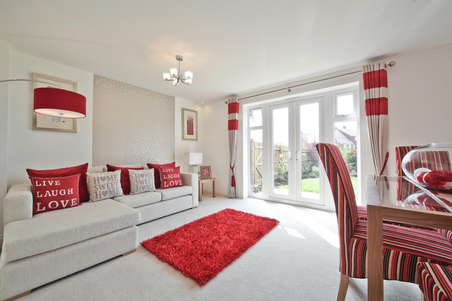 Hele Park Belbury example living room