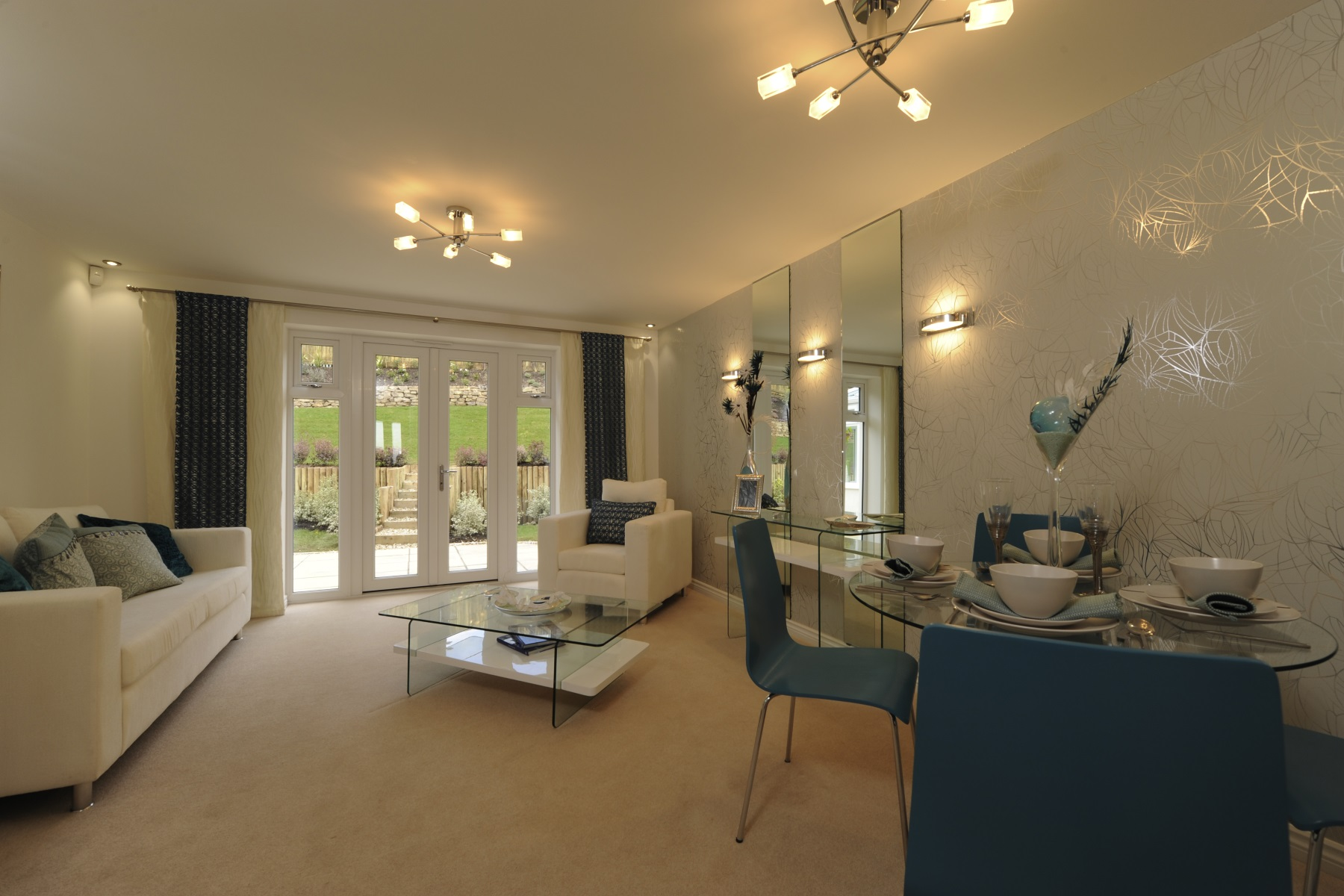 Hele Park Canford example living room