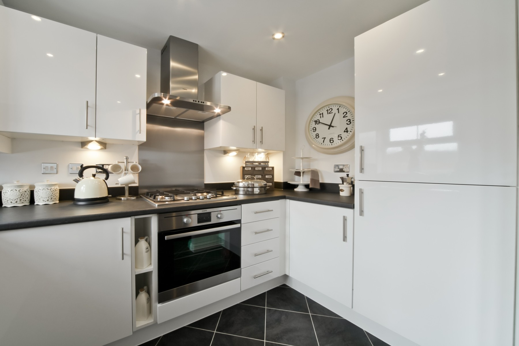 Hele Park Canford example kitchen