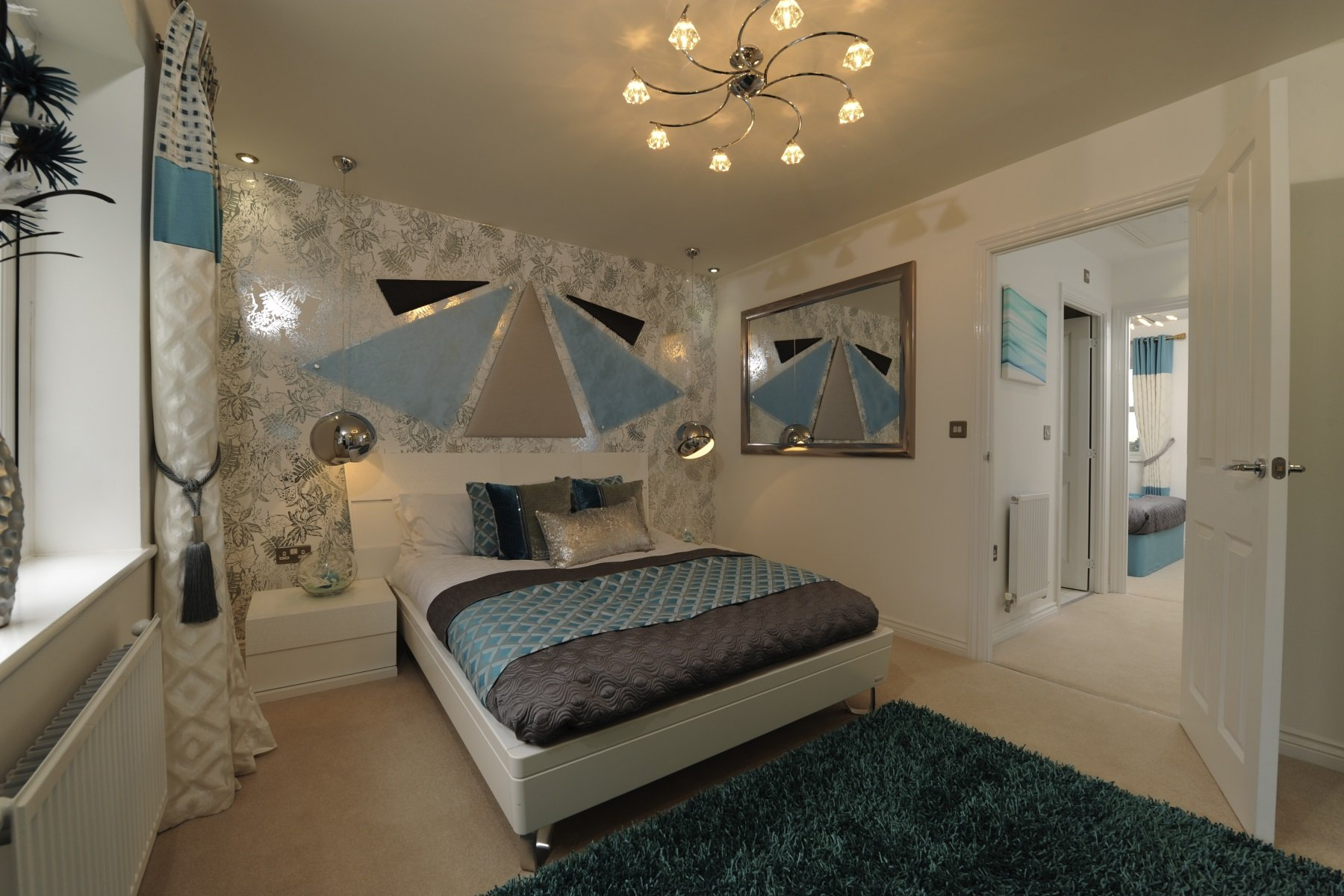 Hele Park Canford example bedroom