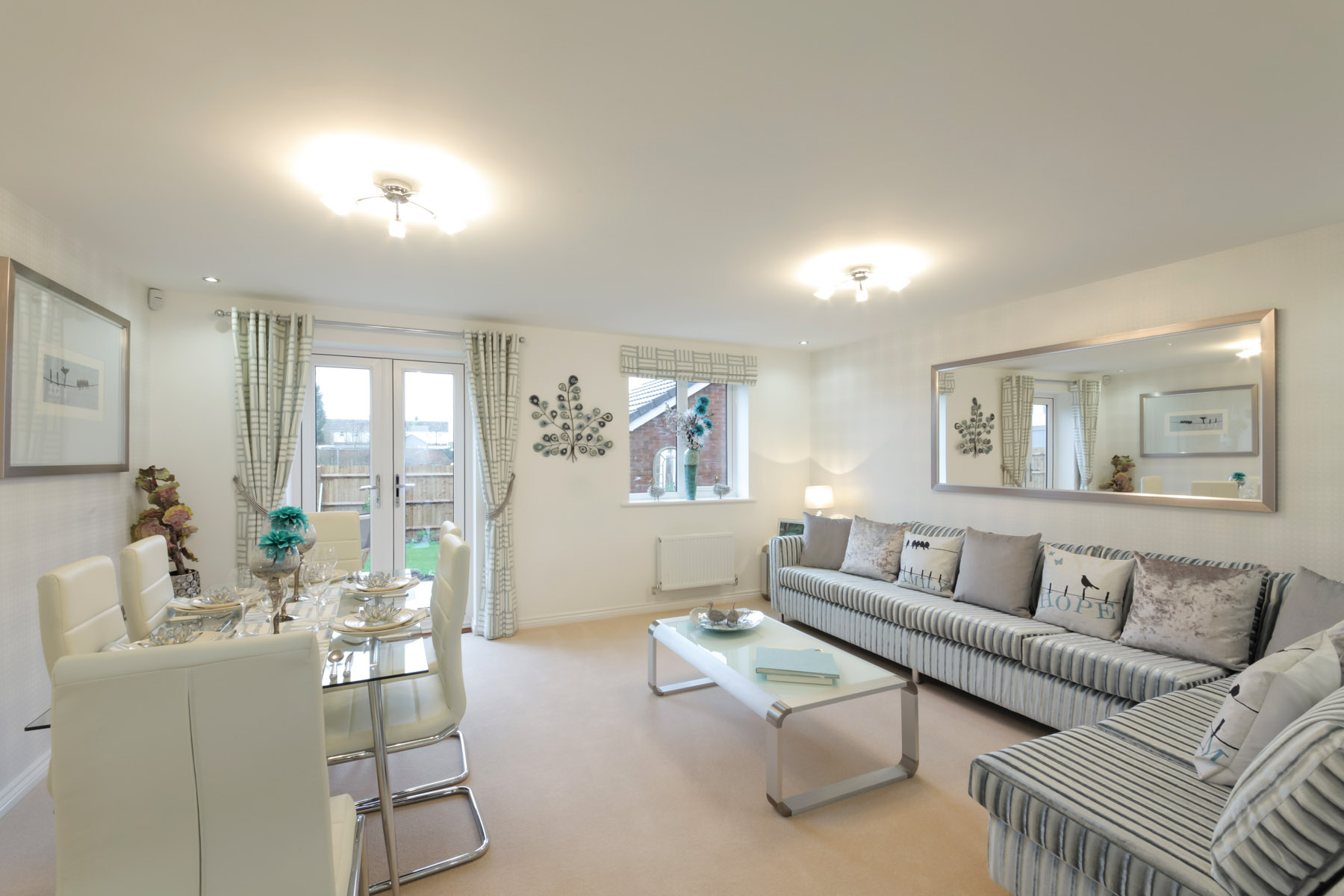 Hele Park Danbury example living room