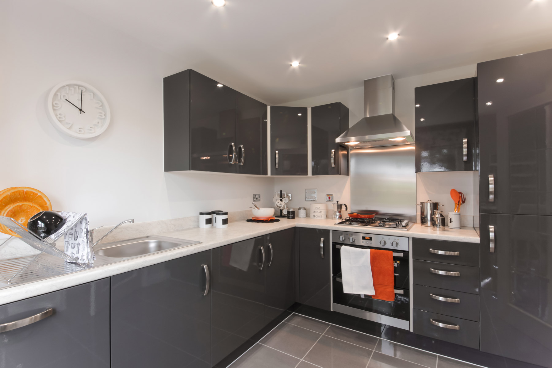 Hele Park Flatford example kitchen