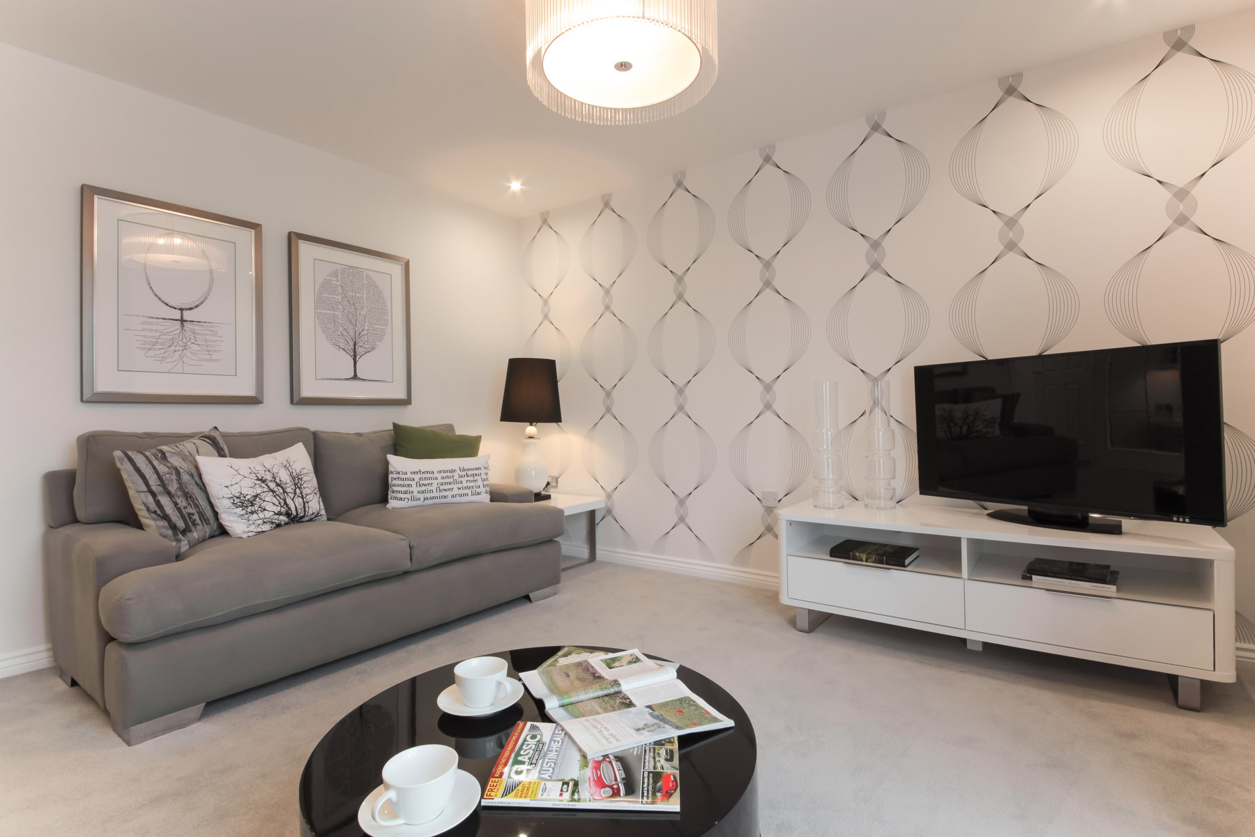 Hele Park Flatford example living room