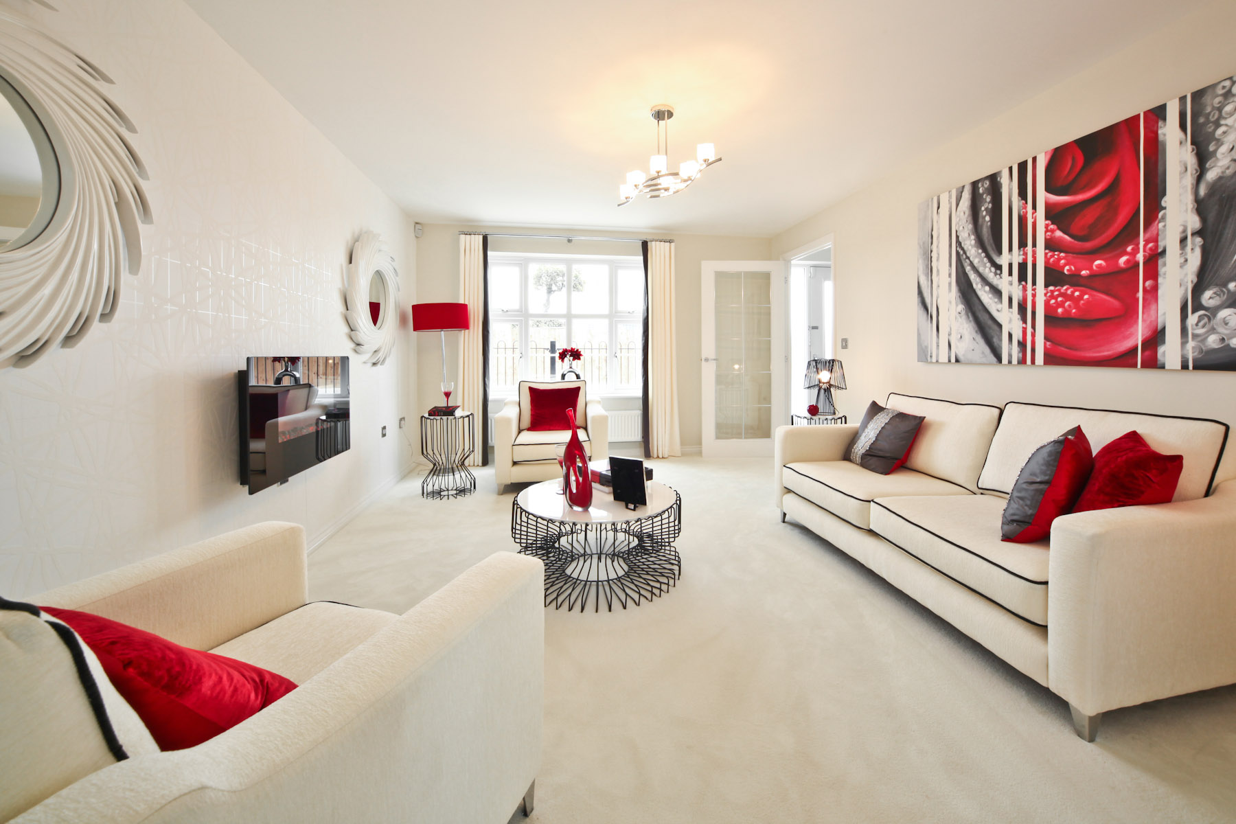Hele Park Shelford example living room
