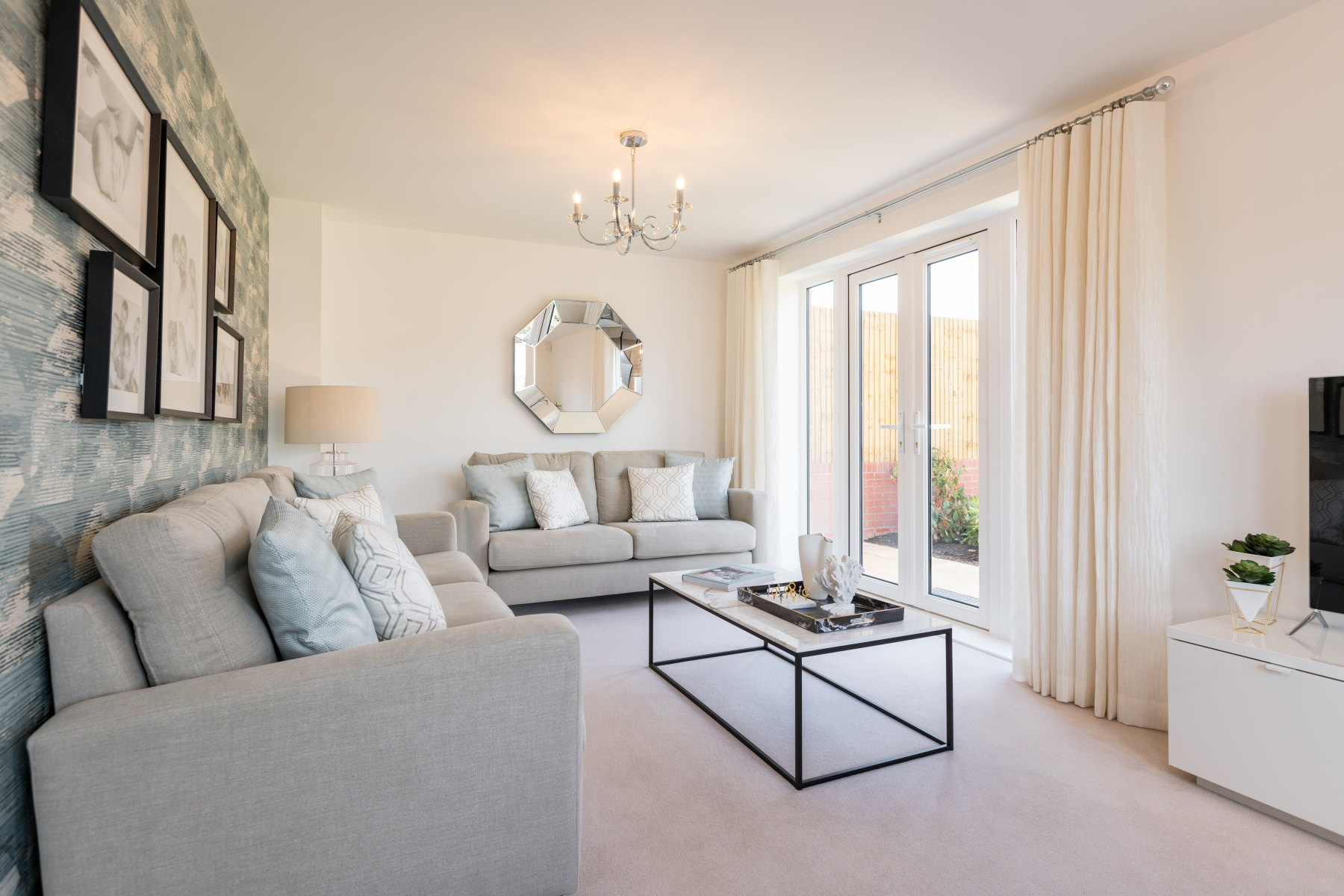 Taylor Wimpey Exeter - Mayfield Gardens - Kingdale example living room