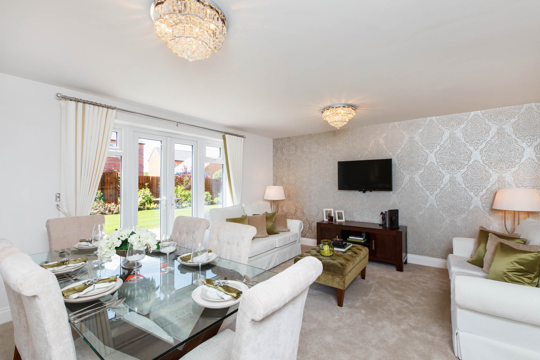 TW Exeter - Rackenford Meadow - Farleigh example living room