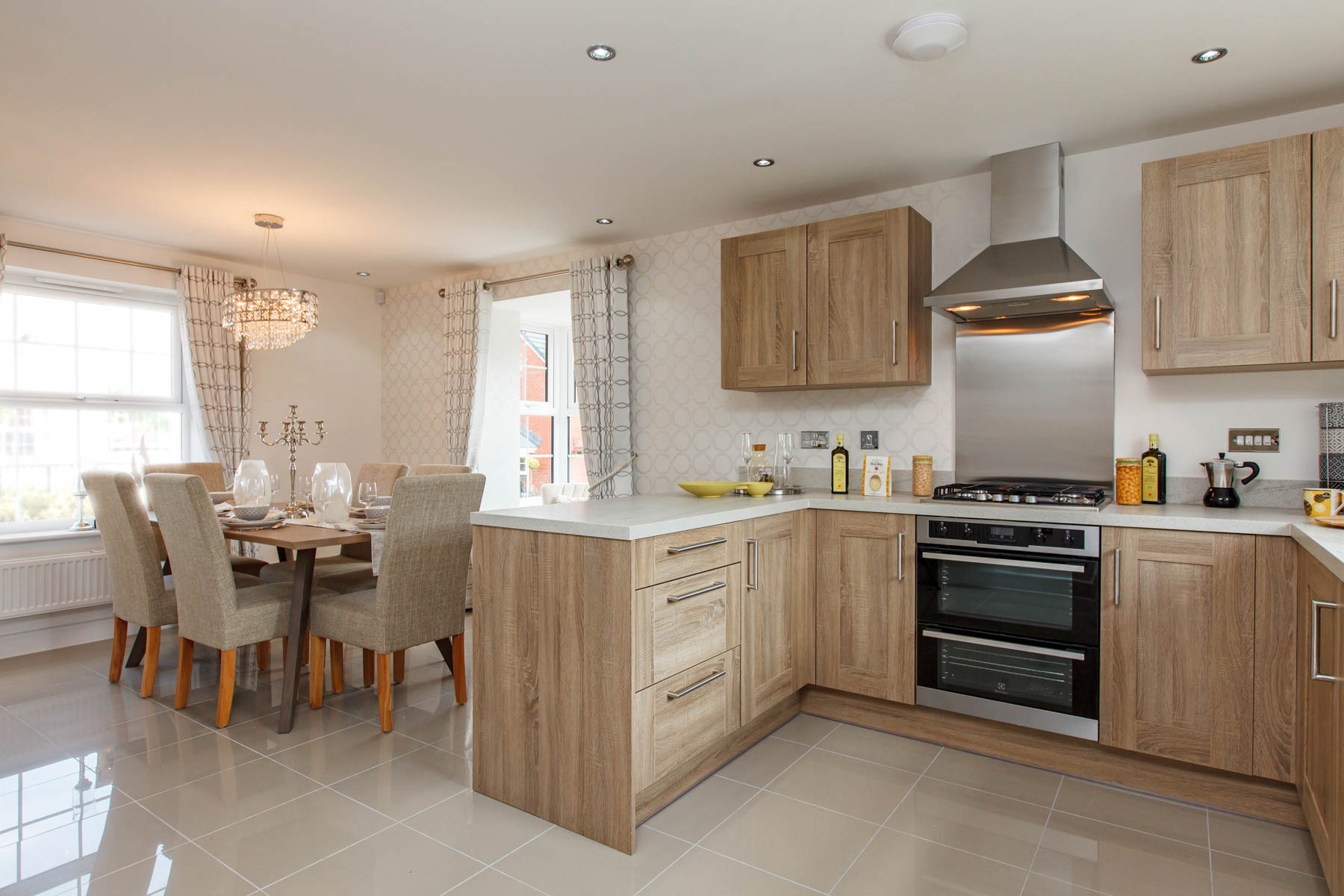 Taylor Wimpey Exeter - Sherford - Beech example kitchen 2