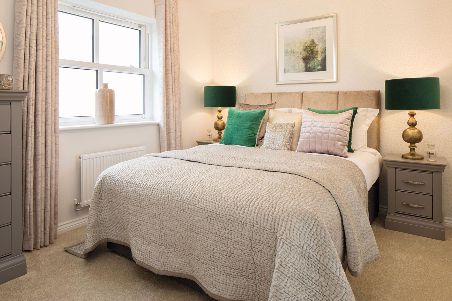 Taylor Wimpey Exeter - Sherford - Beech example bedroom