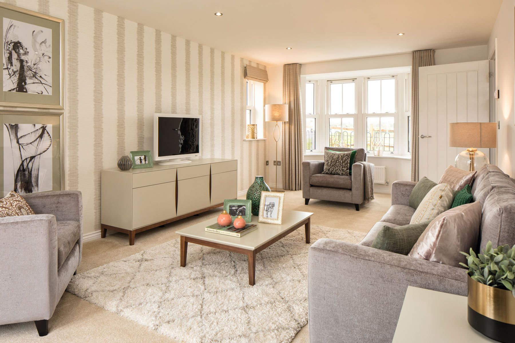 Taylor Wimpey Exeter - Sherford - Beech example living room