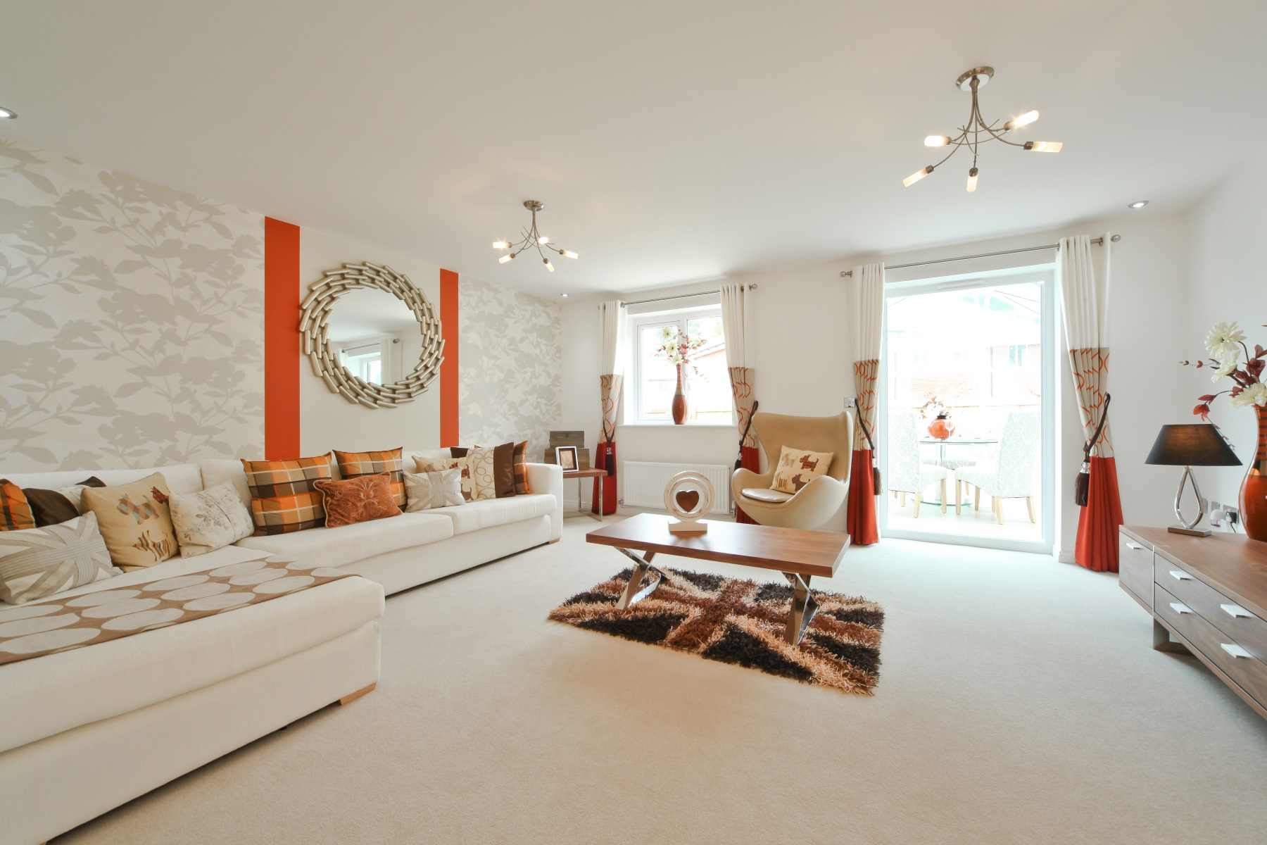 TW Exeter - Sherford - The Danbruy example living room
