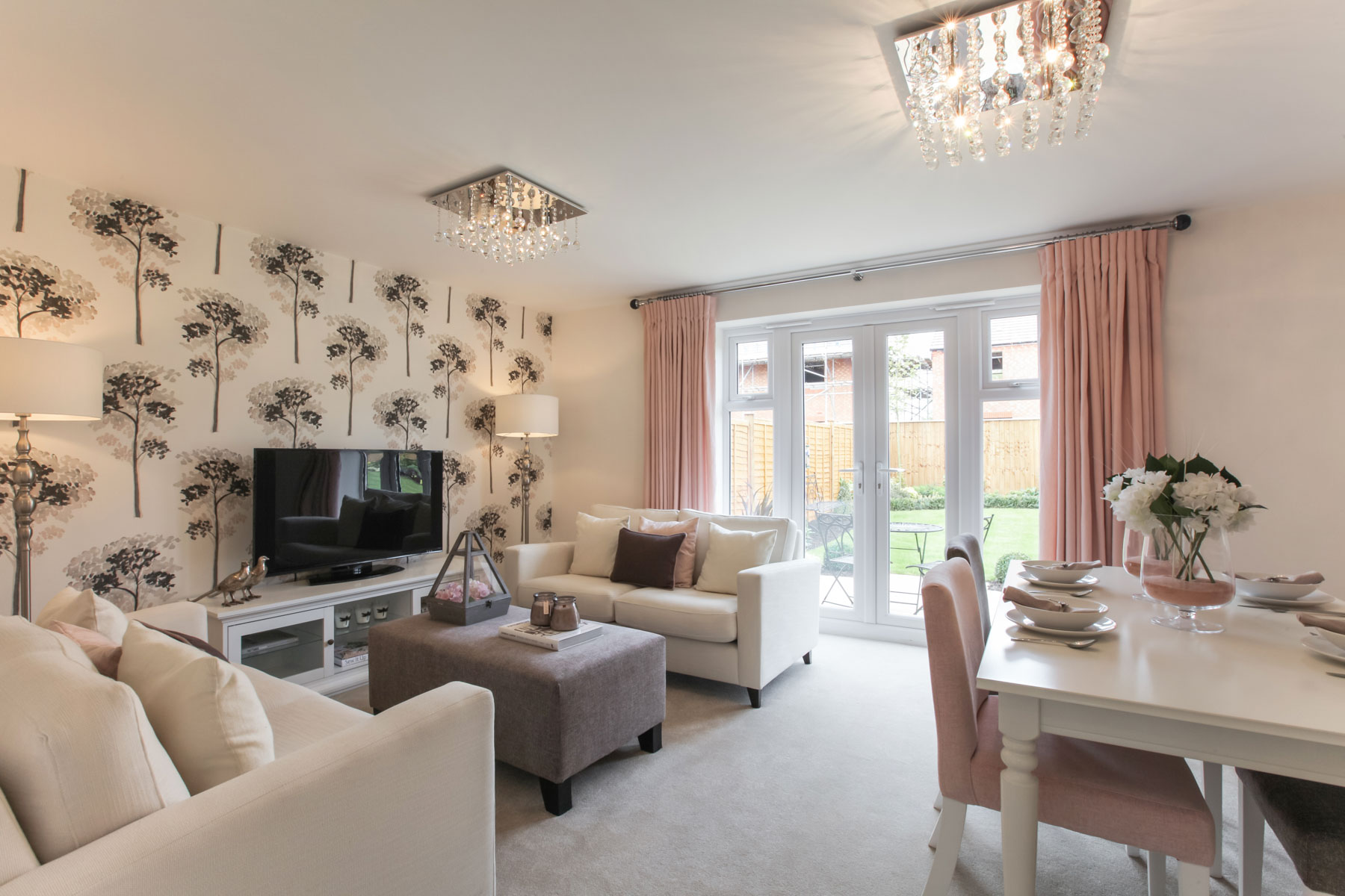 TW Exeter - Sherford - Flatford example living room