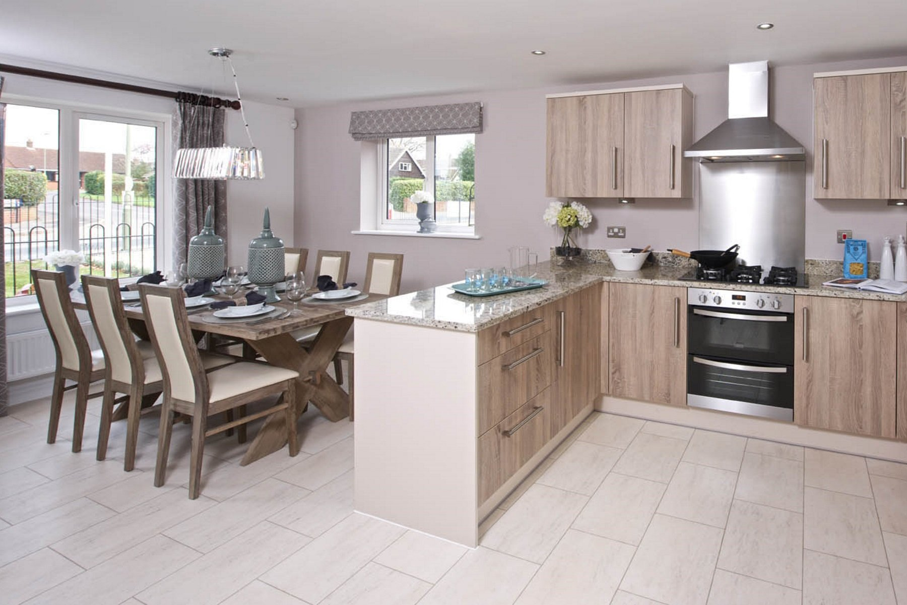 TW Exeter - Sherford - Larch example kitchen