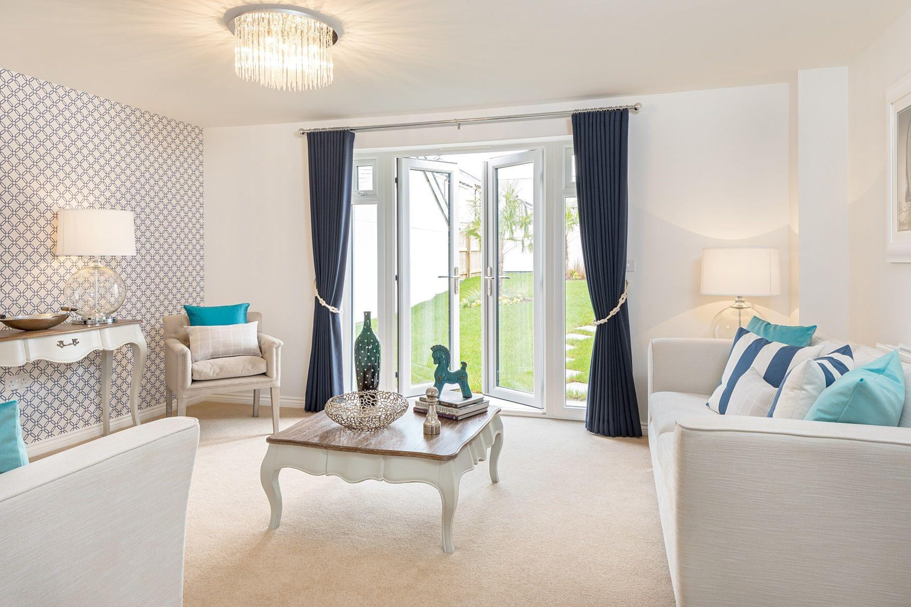 Taylor Wimpey Exeter - Sherford - Poplar example living room 2