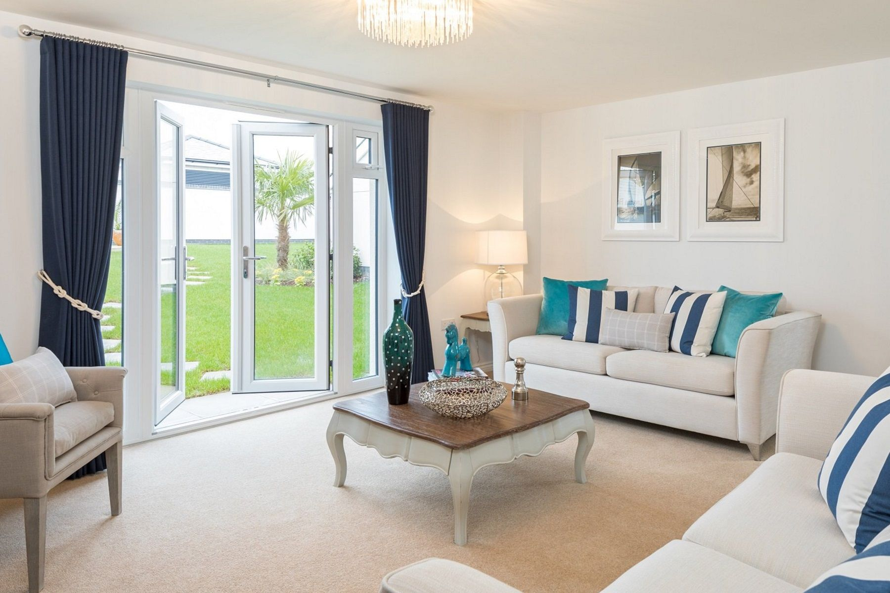 Taylor Wimpey Exeter - Sherford - Poplar example living room