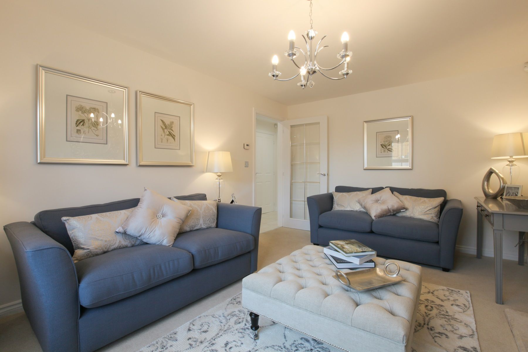 TW Exeter - Sherford - The Redwood example living room 2