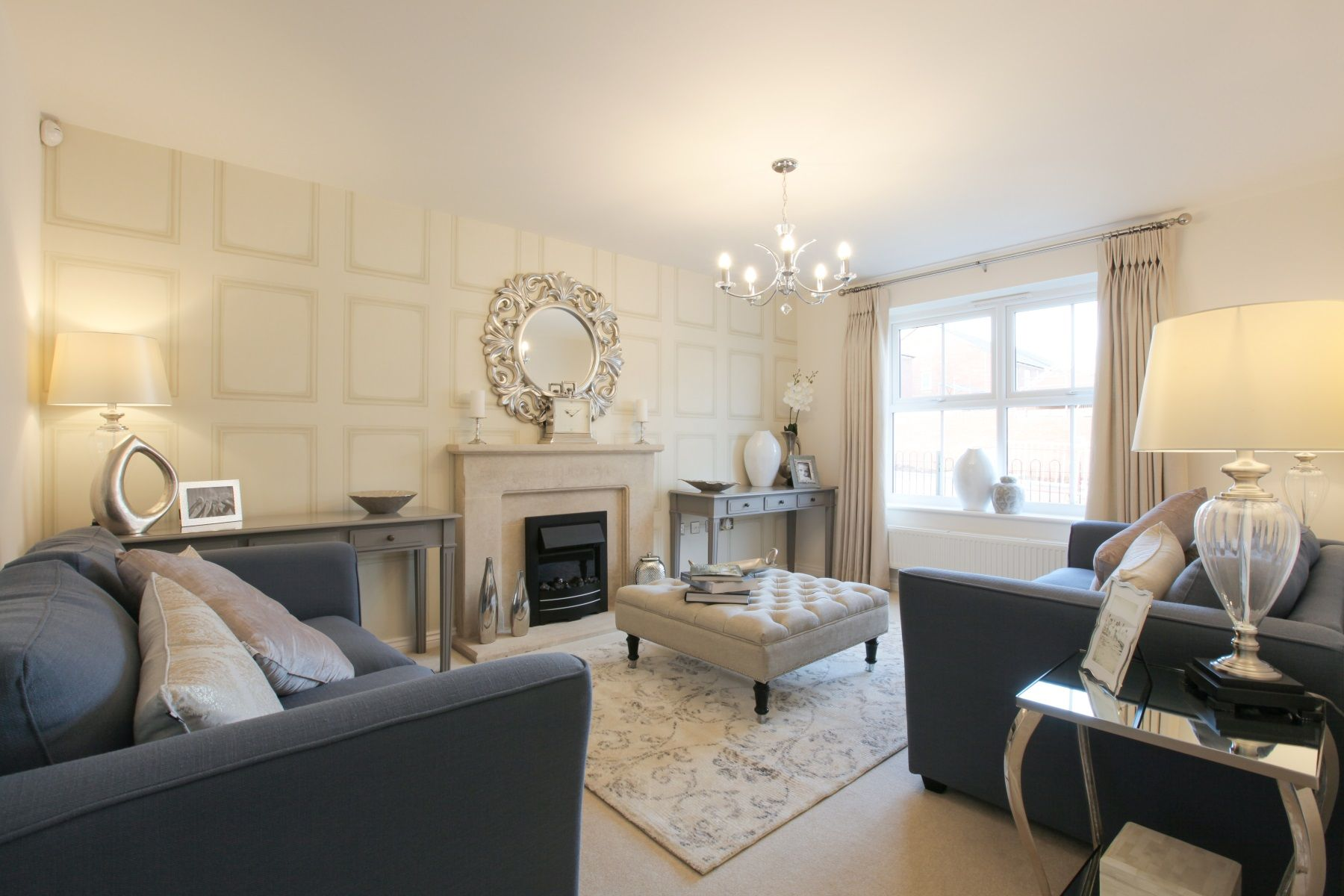 TW Exeter - Sherford - The Redwood example living room