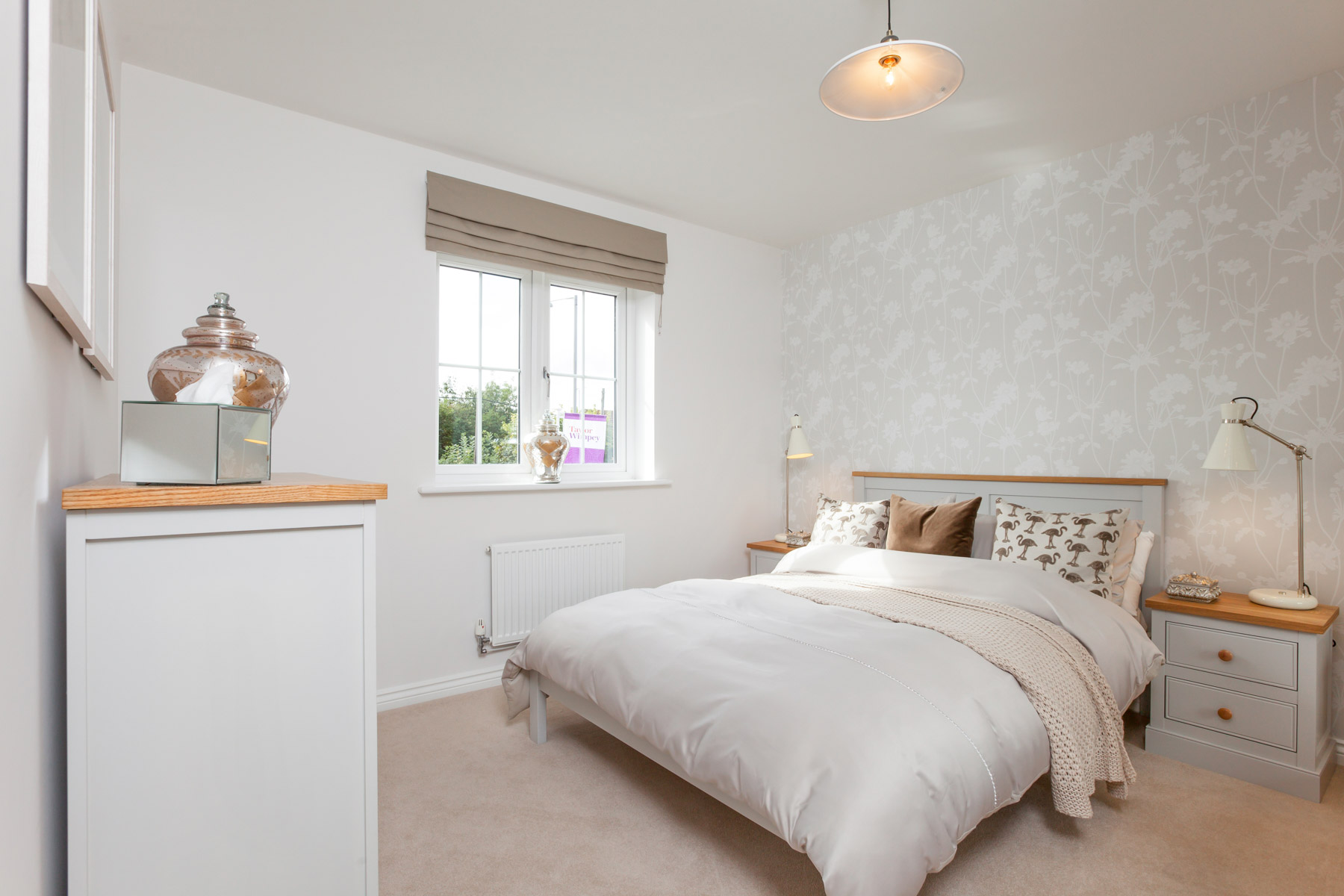 Taylor Wimpey Exeter - Sherford - Willow example bedroom 2