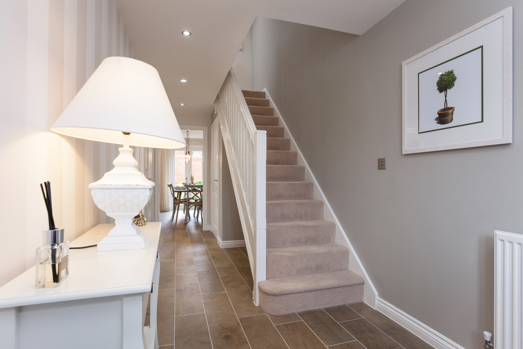 Taylor Wimpey Exeter - Sherford - Willow example hallway