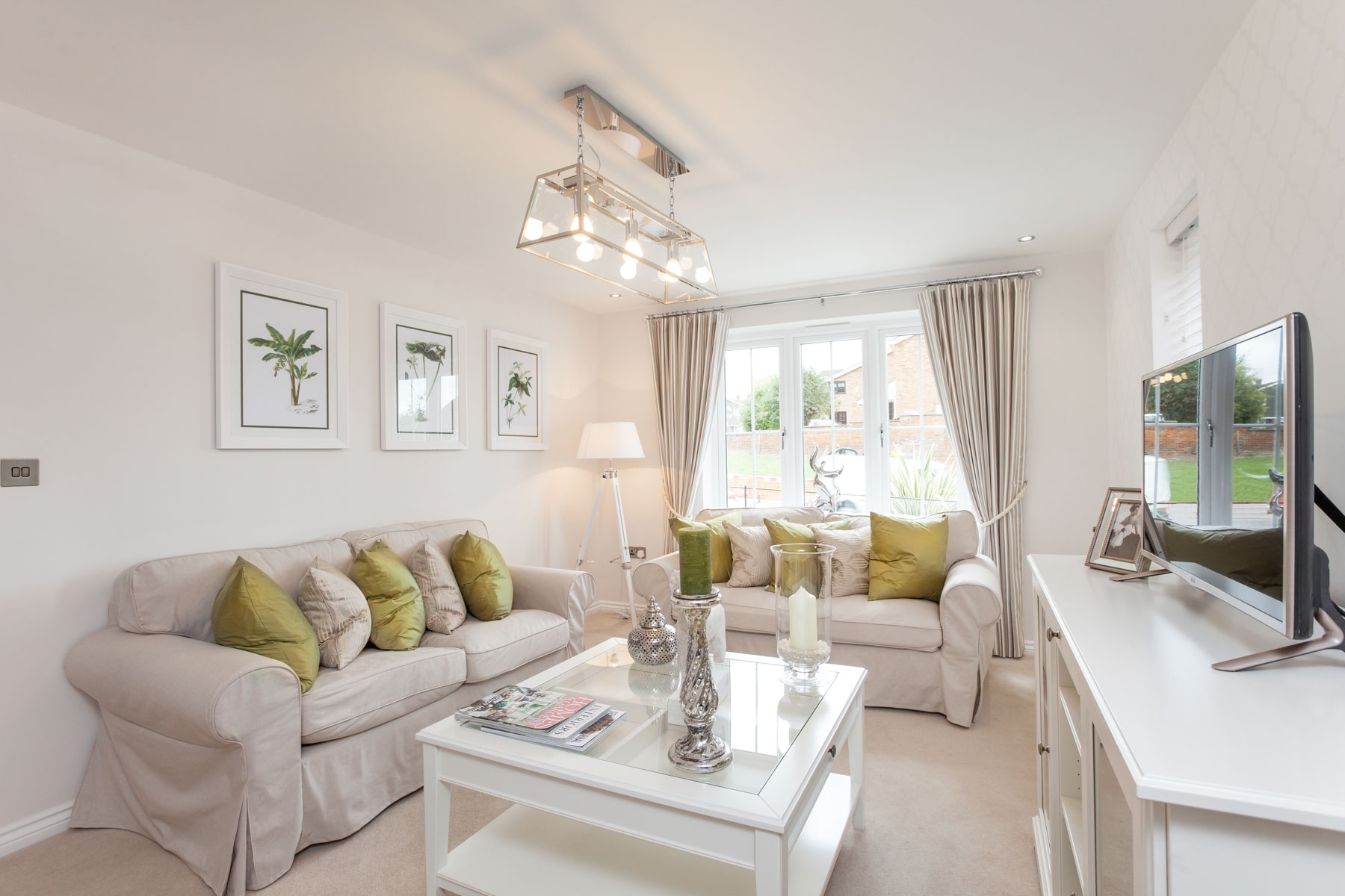 Taylor Wimpey Exeter - Sherford - Willow example living room 2