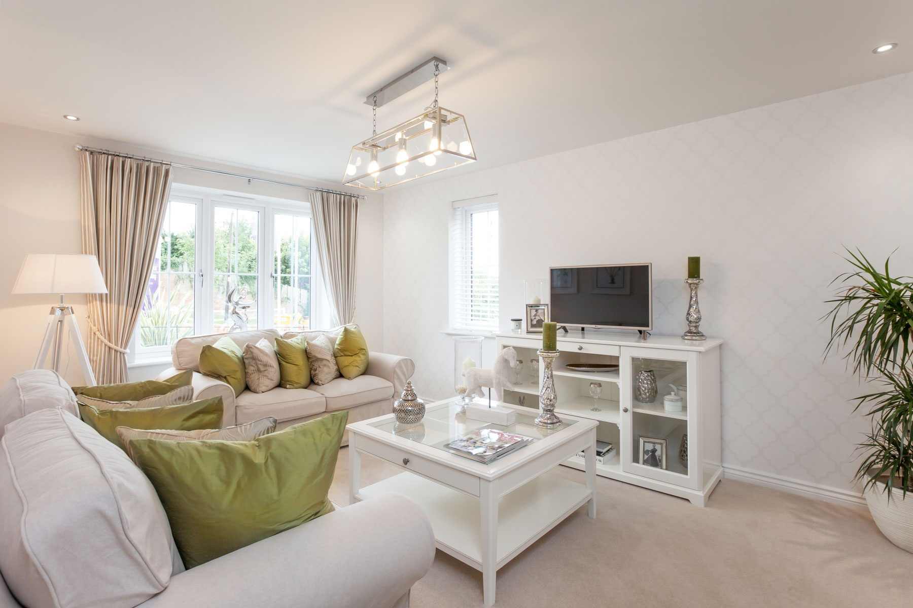 Taylor Wimpey Exeter - Sherford - Willow example living room