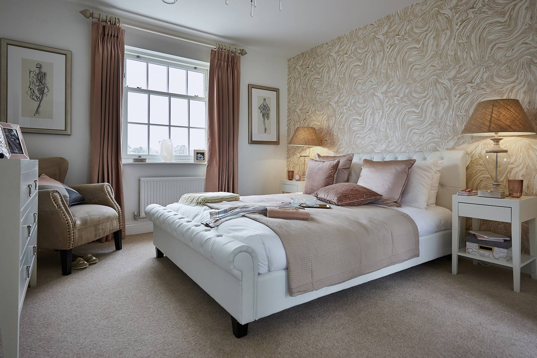 TW Exeter - Sherford - Cherry Show home bedroom 2