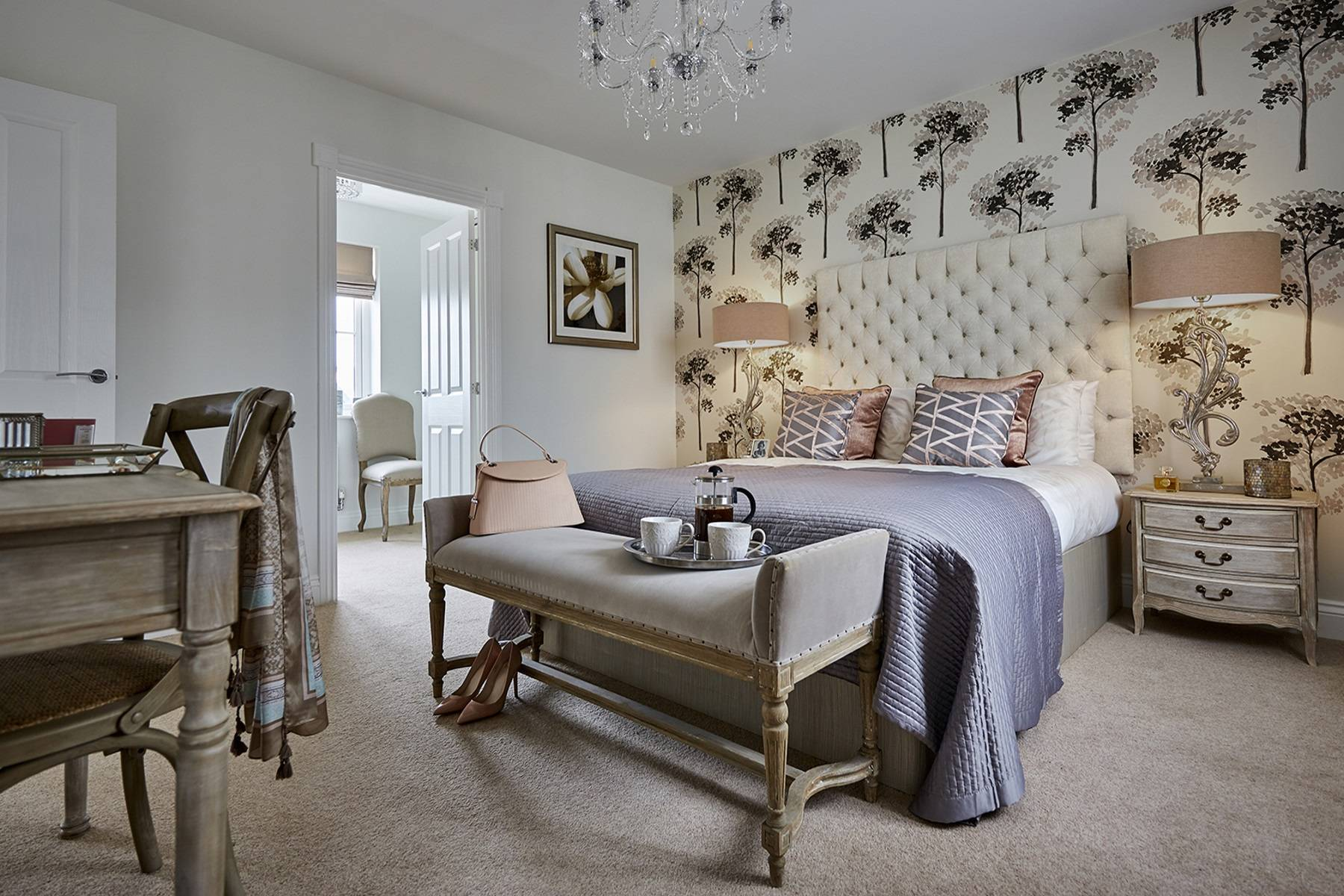 TW Exeter - Sherford - Cherry Show home bedroom