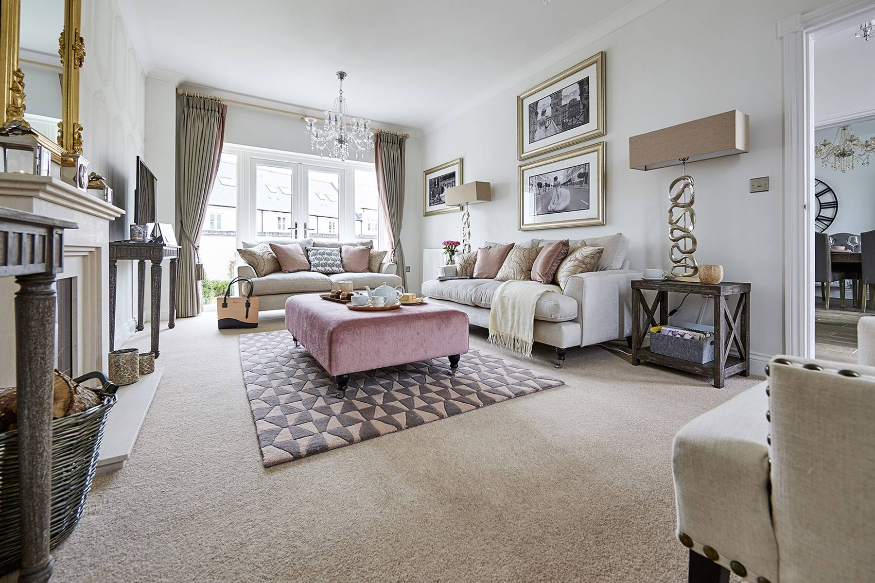 TW Exeter - Sherford - Cherry Show home living room