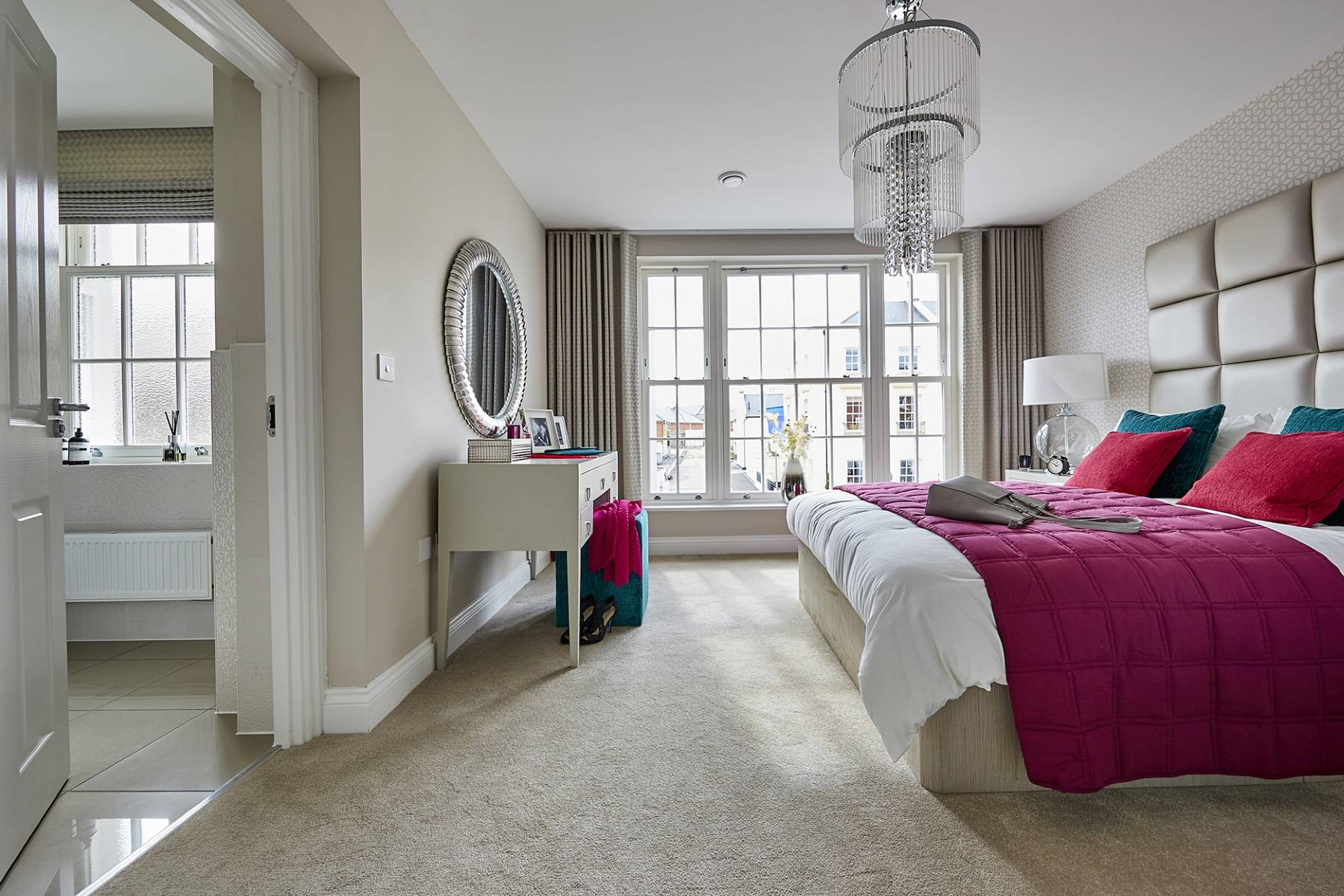 TW Exeter - Sherford - Redwood Show home bedroom