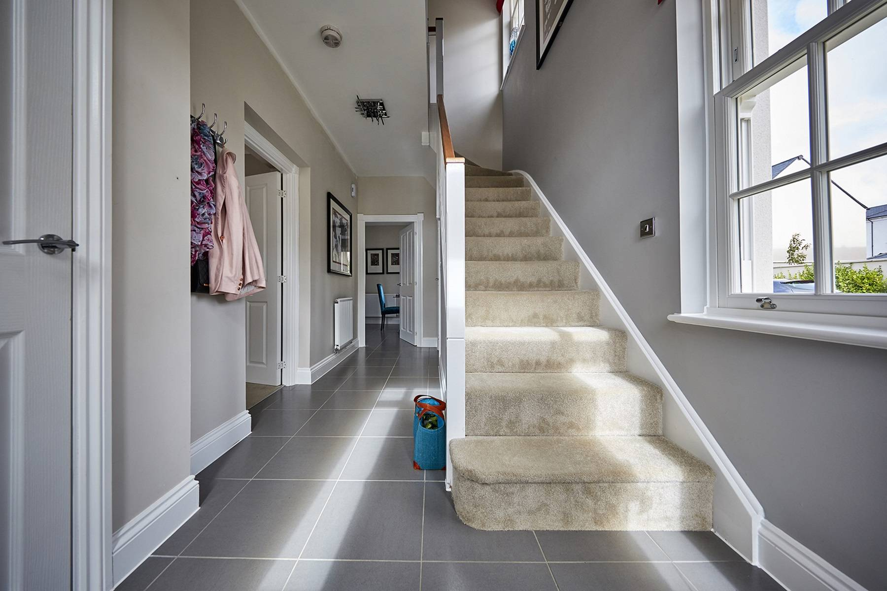 TW Exeter - Sherford - Redwood Show home hallway