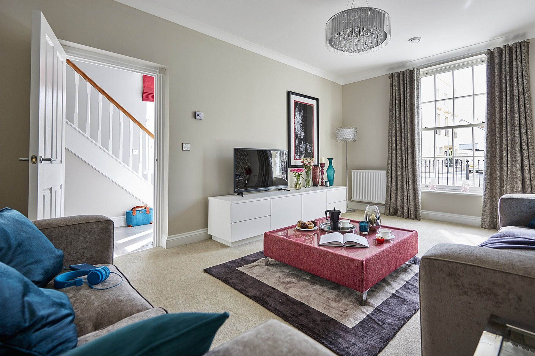 TW Exeter - Sherford - Redwood Show home living room