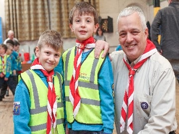 WEB Ryan Sam and Nigel Pettet of the 39th South West Cheshire Scout Group