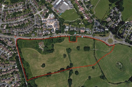 Heathfield Farm Wilmslow red edge of proposed development