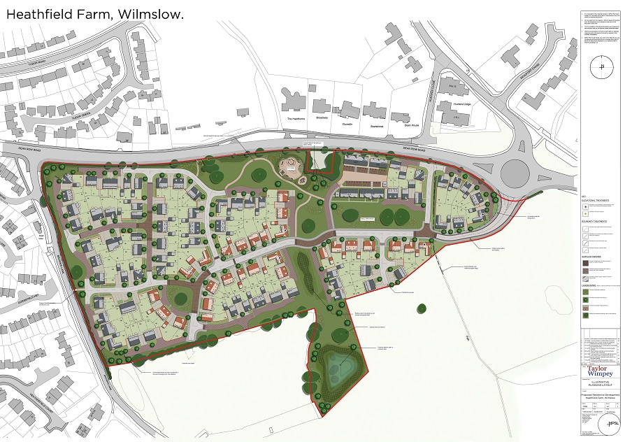 Illustrative Planning Layout - Heathfield Farm- Smaller