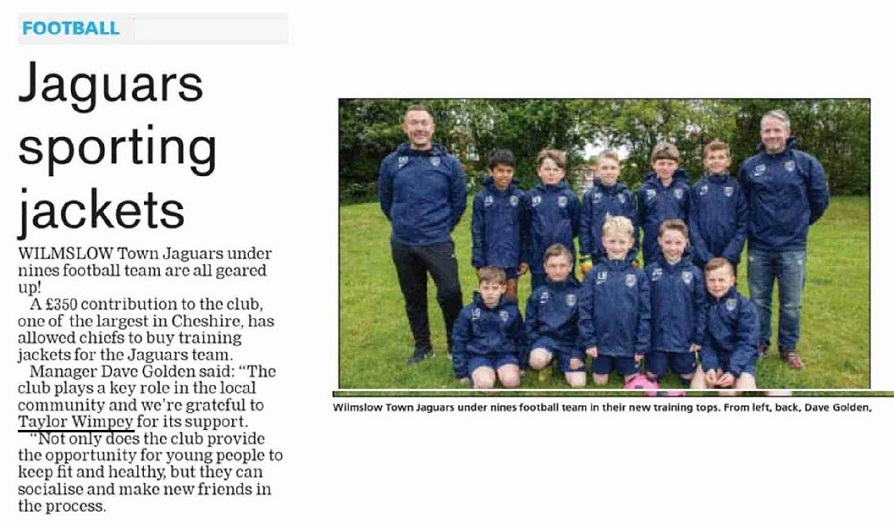 Jaguars Sporting Jackets - Knutsford Guardian