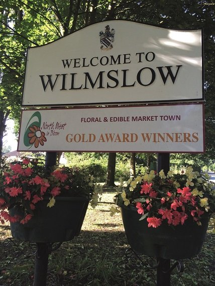 Welcome to Wilmslow Sign - Small